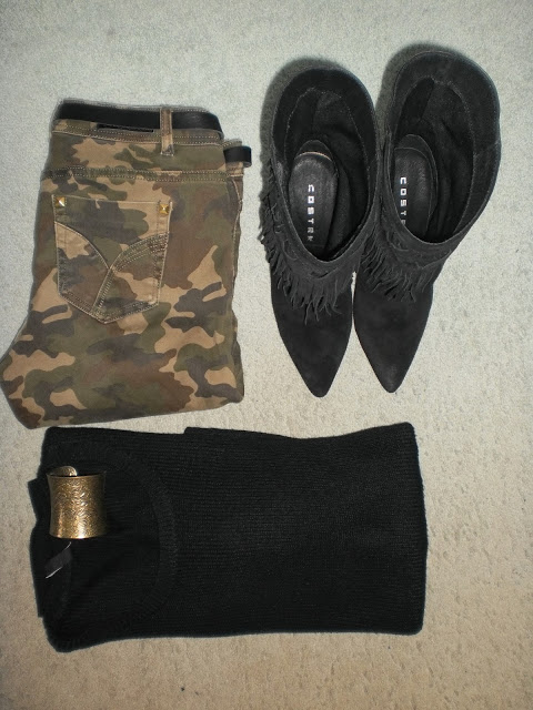 Outfit: I love black and camo