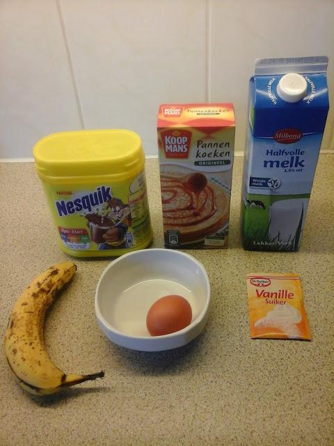 Chocolade banaan pannenkoeken