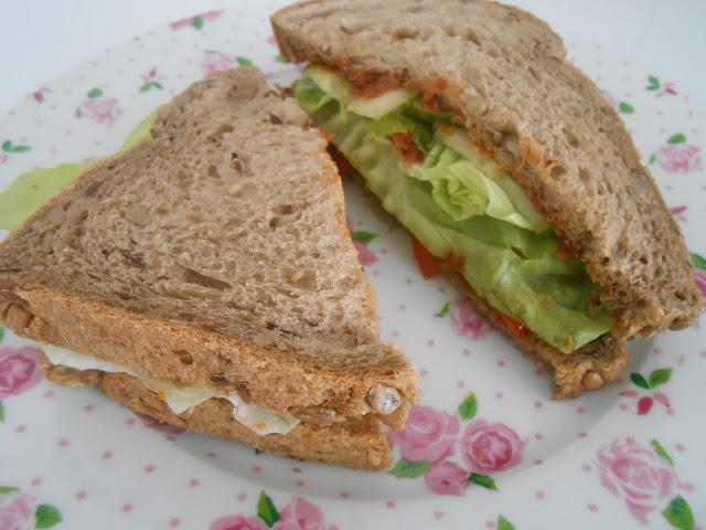 Sandwich met tomatentapenade