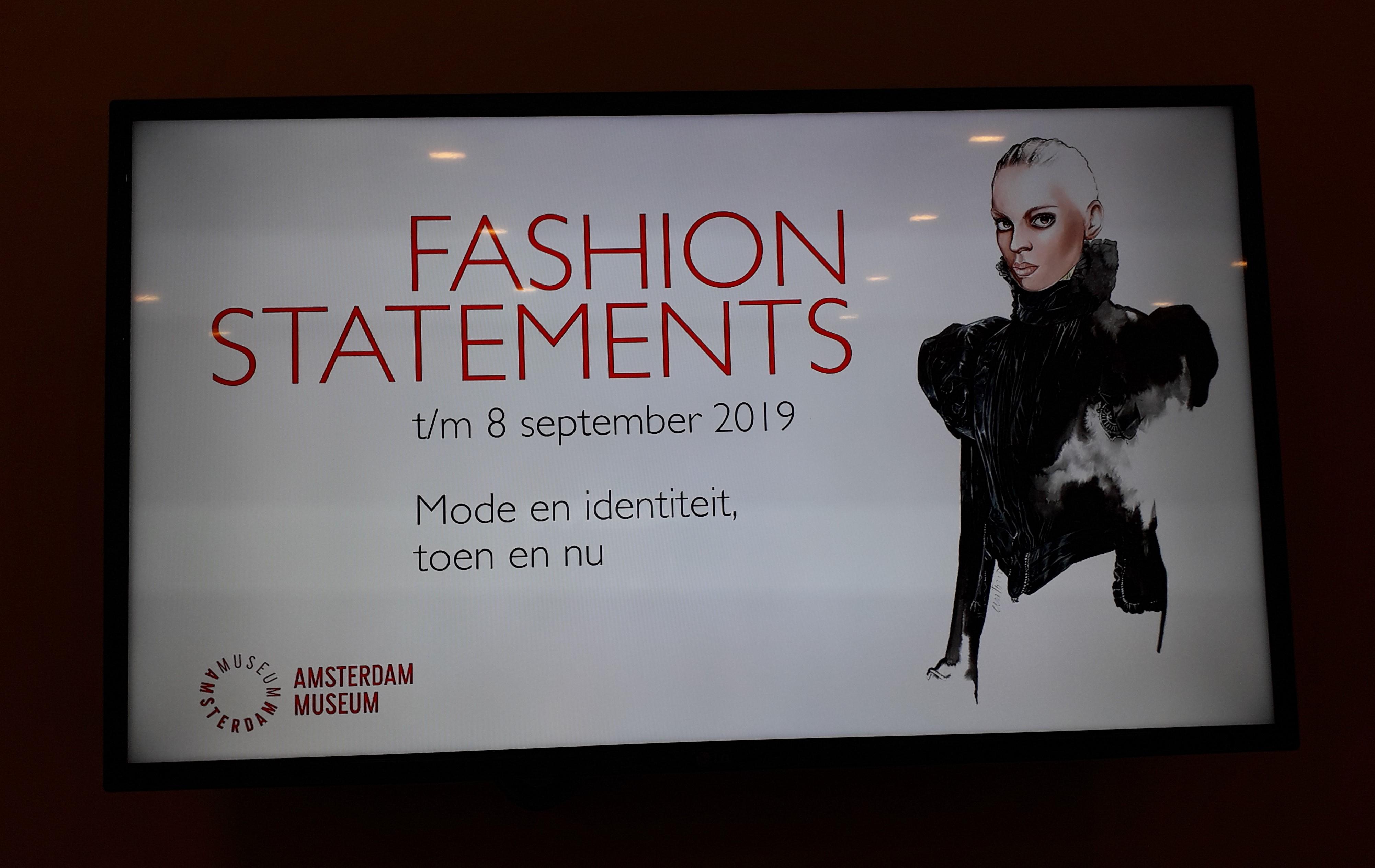 Tentoonstelling Fashion Statements in het Amsterdam Museum