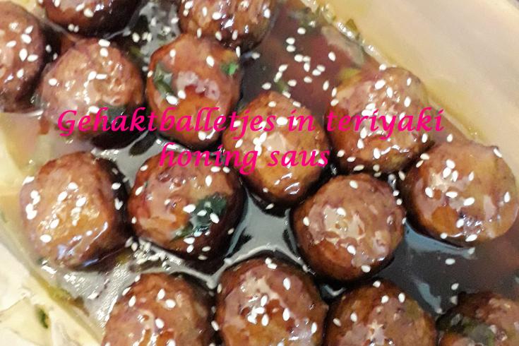 Gehaktballetjes in teriyaki honing saus