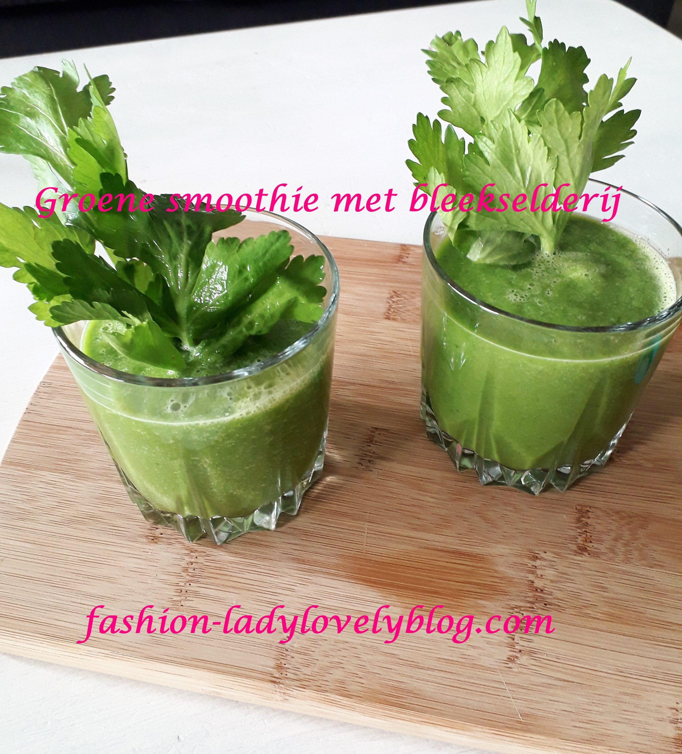 Groene smoothie met bleekselderij