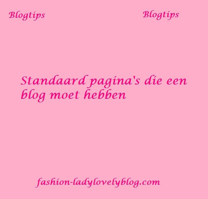 Standaard pagina's voor een blog