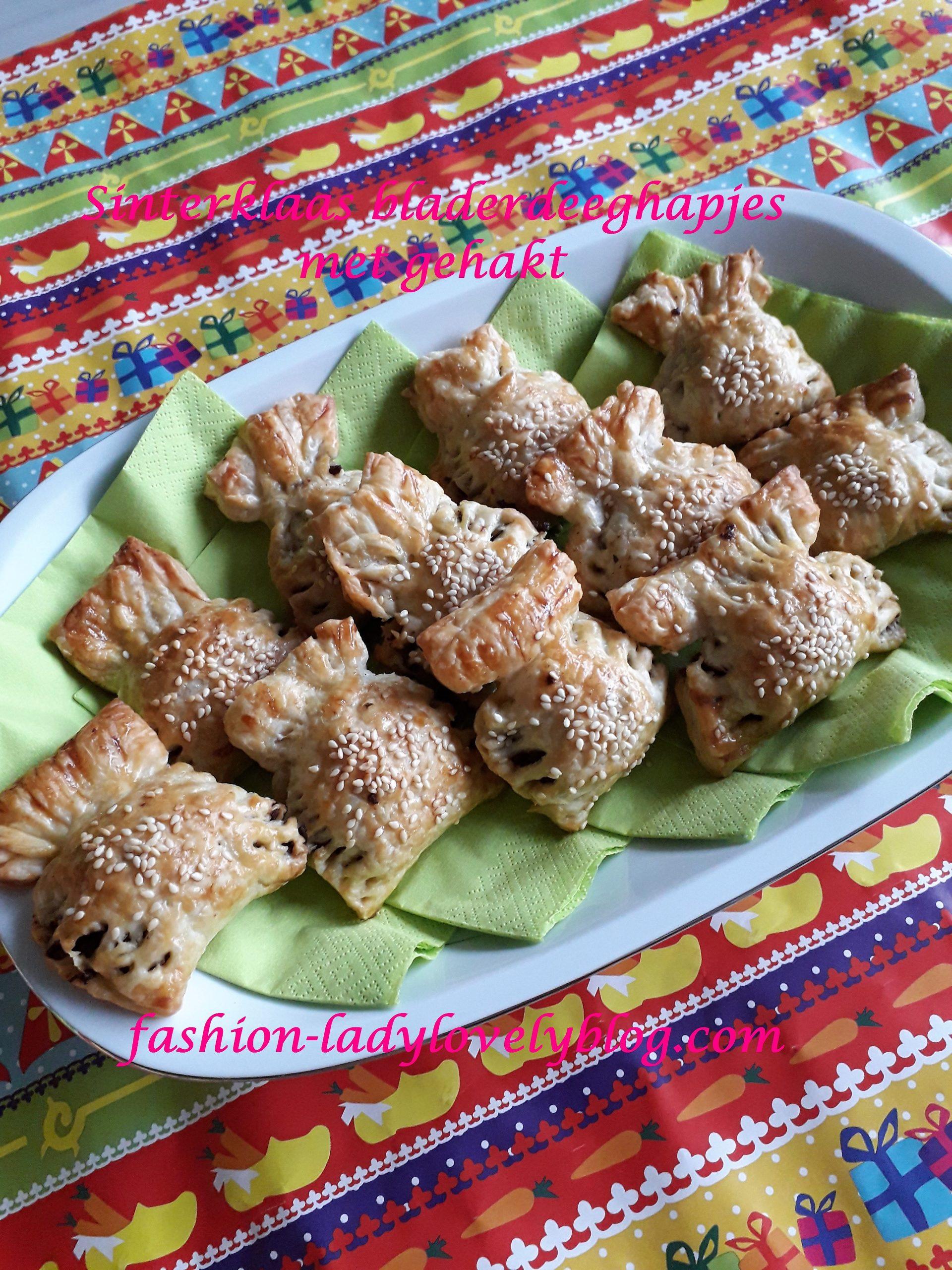 Sinterklaas bladerdeeghapjes met gehakt