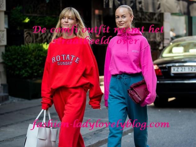 De comfy outfit neemt het straatbeeld over