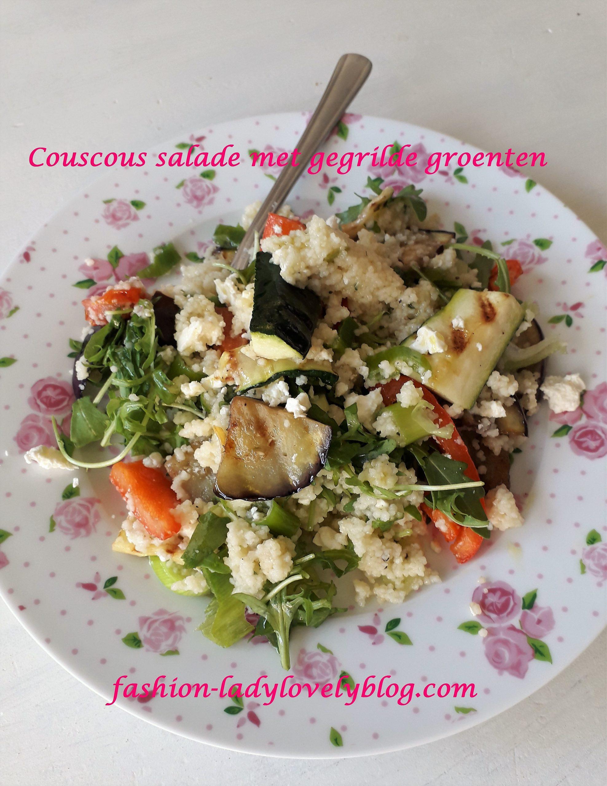 Couscous salade met gegrilde groenten